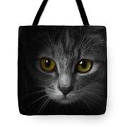 Gorgeous Yellow-green Eyes Cat Tote Bag