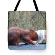 Gorging Squirrel Tote Bag