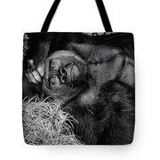 Gorilla Pose Tote Bag