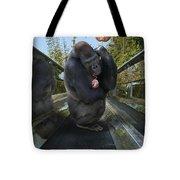 Gorilla With Lollipop Tote Bag