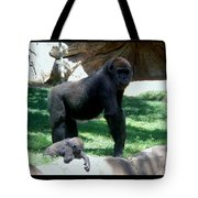 Gorillas Mary Joe Baby And Emonty Mother 6 Tote Bag