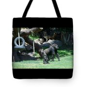 Gorillas Mary Joe Baby And Emonty Mother 7 Tote Bag