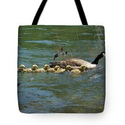 Goslings In A Row Tote Bag