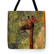 Gossiping Giraffe Tote Bag