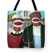 Gothic American Sock Monkeys Tote Bag