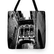 Gothic Bridge In The Gothic Quarter Of Barcelona Tote Bag