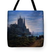Gothic Church On A Rock Tote Bag