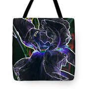 Gothic Iris Tote Bag by Savannah Fonner