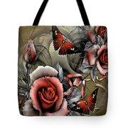 Gothic Roses Tote Bag