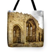 Gothic Temple Ruins - San Domingos - Vintage Version Tote Bag