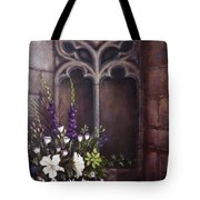 Gothic Wedding Bouquet Tote Bag