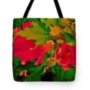 Gouache Painting Flower And Bumble Bee Tote Bag