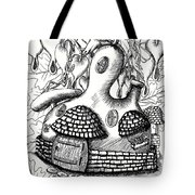 Gourd Fairy House With Snail And Preying Mantis Tote Bag