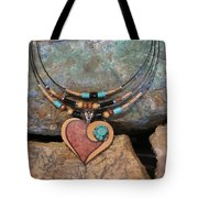 Gourd Heart With Turquoise #h92 Tote Bag