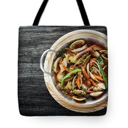 Gourmet Clam And Vegetable Seafood Stew In Spicy Tomato Sauce Tote Bag
