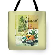 Gourmet Cover Featuring A Bowl Of Peaches Tote Bag