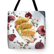 Gourmet Fish Fillet With Chickpea Curry Puree Meal Tote Bag
