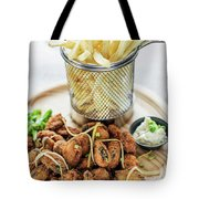 Gourmet Fried Octopus Calamari Style Set Meal With Fries Tote Bag