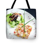 Gourmet Raw Tuna Tartare Ceviche With Mango Lime And Chilli Tote Bag