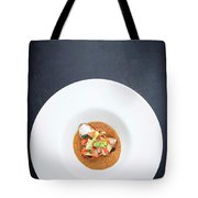Gourmet Stuffed Squid With Vegetables In Pumpkin Curry Puree Tote Bag