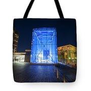 Goverment Center Boston Ma In Blue City Hall Tote Bag