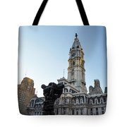 Government Of The People And City Hall Philadelphia Tote Bag