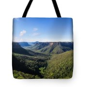 Govetts Leap Lookout Panorama, Australia Tote Bag