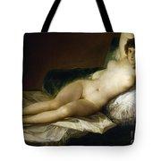 Goya: Nude Maja, C1797 Tote Bag