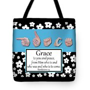 Grace - Bw Graphic Tote Bag