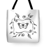 Graceful Butterfly Baby Room Decor Iv Tote Bag
