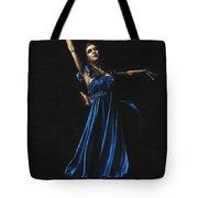 Graceful Dancer In Blue Tote Bag