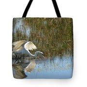 Graceful Great Egret Tote Bag