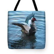 Graceful Muscovy Duck Tote Bag