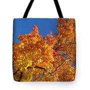 Gradient Autumn Tree Tote Bag