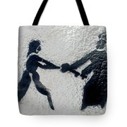 Graffiti Art In Black And White Along Streets Of Valparaiso-chile Tote Bag