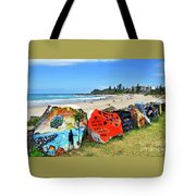 Graffiti At The Beach Tote Bag