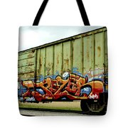 Graffiti Boxcar Tote Bag by Danielle Allard