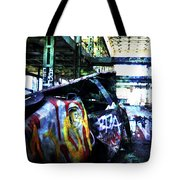 Graffiti Car Tote Bag