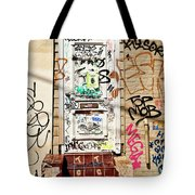 Graffiti Doorway New Orleans Tote Bag