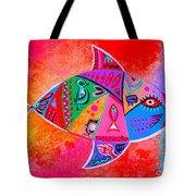 Graffiti Fish Tote Bag