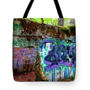 Graffiti Illusion Tote Bag