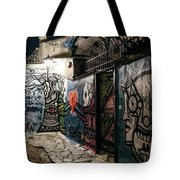 Graffiti In Plaka I Tote Bag by James Billings