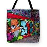 Graffiti London Style Tote Bag