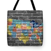Graffiti  Map Of The United States Of America Tote Bag