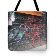 Graffiti Pigeon Tote Bag
