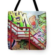 Graffiti Steps Tote Bag