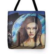 Graffiti Street Art Mural Around Melrose Avenue In Los Angeles, California  Tote Bag