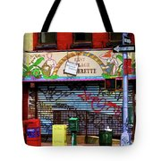 Graffiti Village Store Nyc Greenwich  Tote Bag