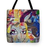 Graffiti Woman Face Tote Bag