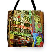 Graffitti On New York City Building Tote Bag